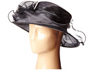 DRS1004 Organza Dress/Derby Hat with Wired Brim and Rosette Trim