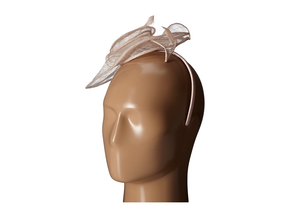 San Diego Hat Company - DRS1006 Dressy Fascinator with Rosette and Featheres Perfect For The Derby Blush Dress Hats $48.00 AT vintagedancer.com