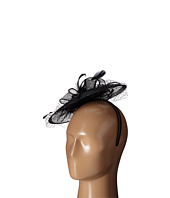 San Diego Hat Company - DRS1005 Fasinator with Veil Curled Bow Featers For Derby or Dressy Attire