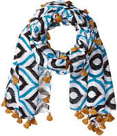 San Diego Hat Company - BSS1549 Lightweight Scarf with All Over Print and Tassels