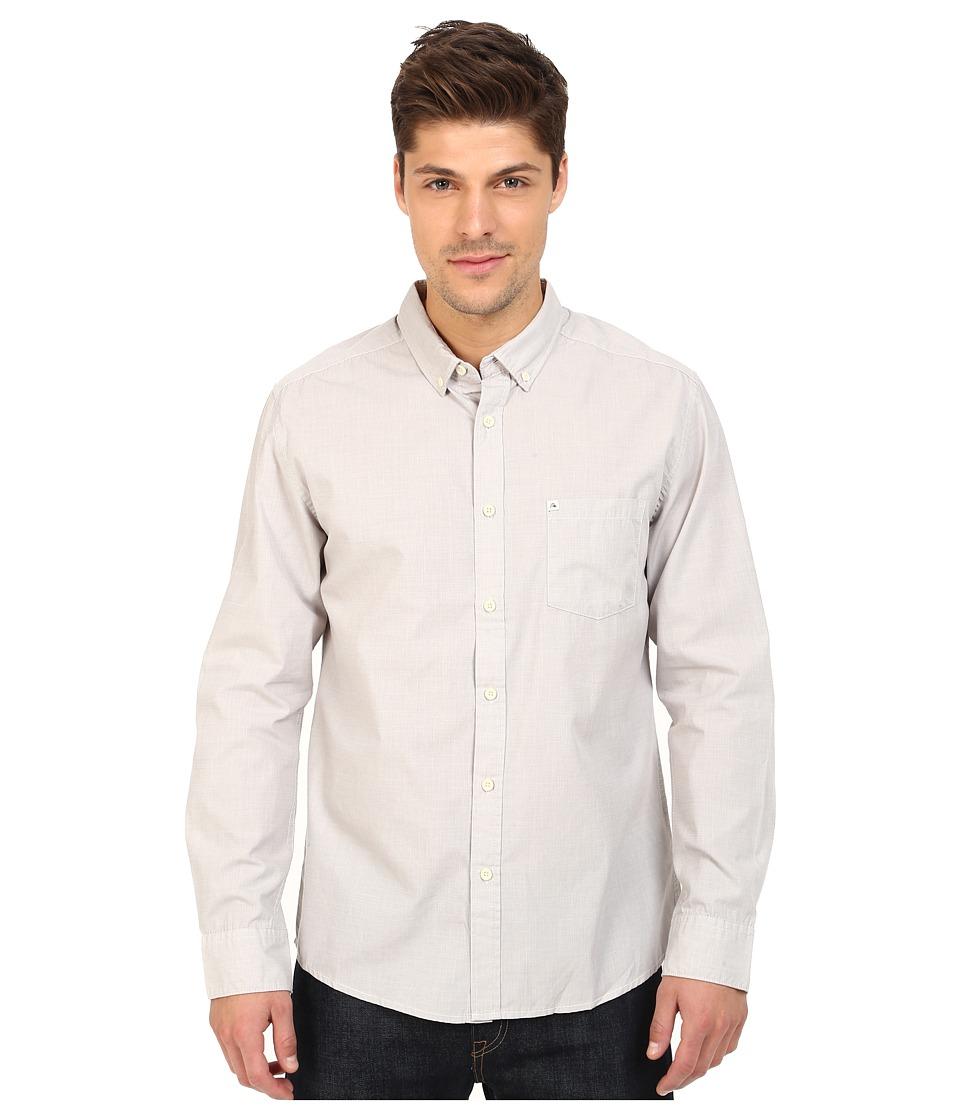 Quiksilver Wilsden Perenial Long Sleeve Steeple Gray Mens Long Sleeve Button Up