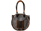 San Diego Hat Company BSB1562 Color Block Tote Bag with Faux Leather Handles