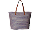 San Diego Hat Company BSB1557 Tote Bag with Pop Color Lining and Interior Zipered Pocket and Metal Snap Closures