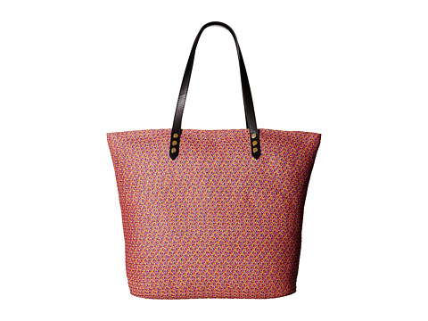 San Diego Hat Company BSB1557 Tote Bag with Pop Color Lining and Interior Zippered Pocket and Metal Snap Closures - Bright Mix
