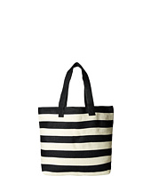 San Diego Hat Company - BSB1556 Wide Stripe Tote Bag with Interior Zippered Pocket and Metal Snap Closure