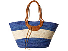 San Diego Hat Company BSB1561 Color Block Tote Bag with Faux Leather Handles and Metal Snap Closure