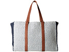 San Diego Hat Company BSB1564 Mixed Paper Braid Tote with Paper Crochet Side Panels