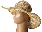 PBL3069 Open Weave Mixed Colored Pattern Floppy Hat