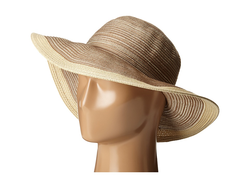 San Diego Hat Company - MXM1016 Sun Brim Hat with Self Tie and Contrast Edge (Beige) Caps