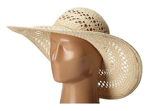 San Diego Hat Company PBL3068 Open Weave Floppy Hat with Self Tie - Natural