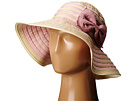San Diego Hat Company - RBM5556 Washed Paper Braid and Ribbon Sunbrim Hat