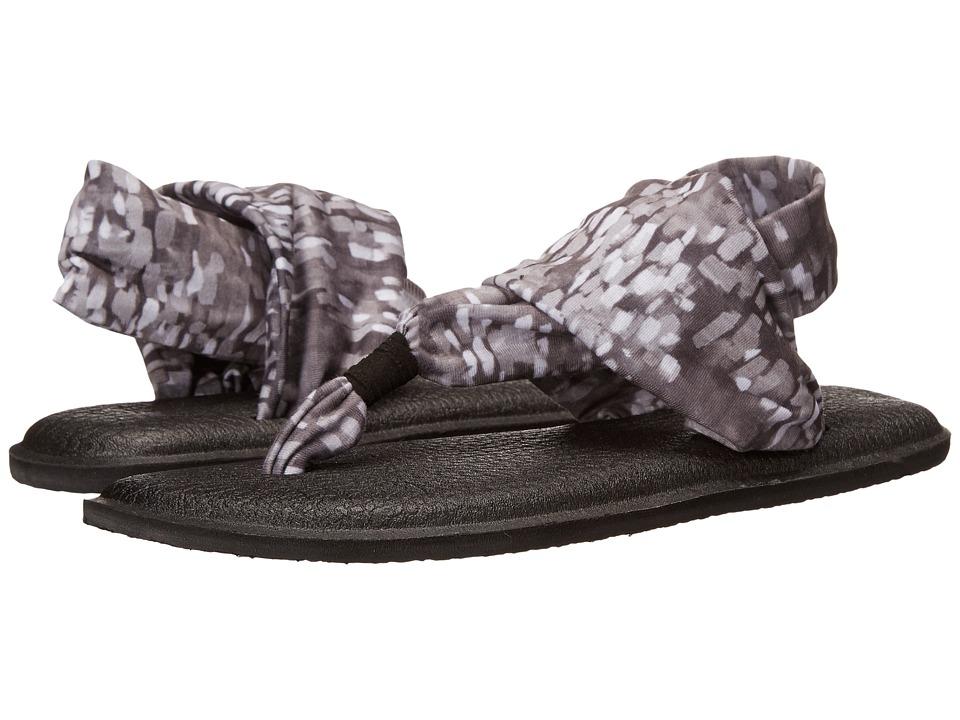 Sanuk Yoga Sling 2 Prints Black/White Rain Womens Sandals