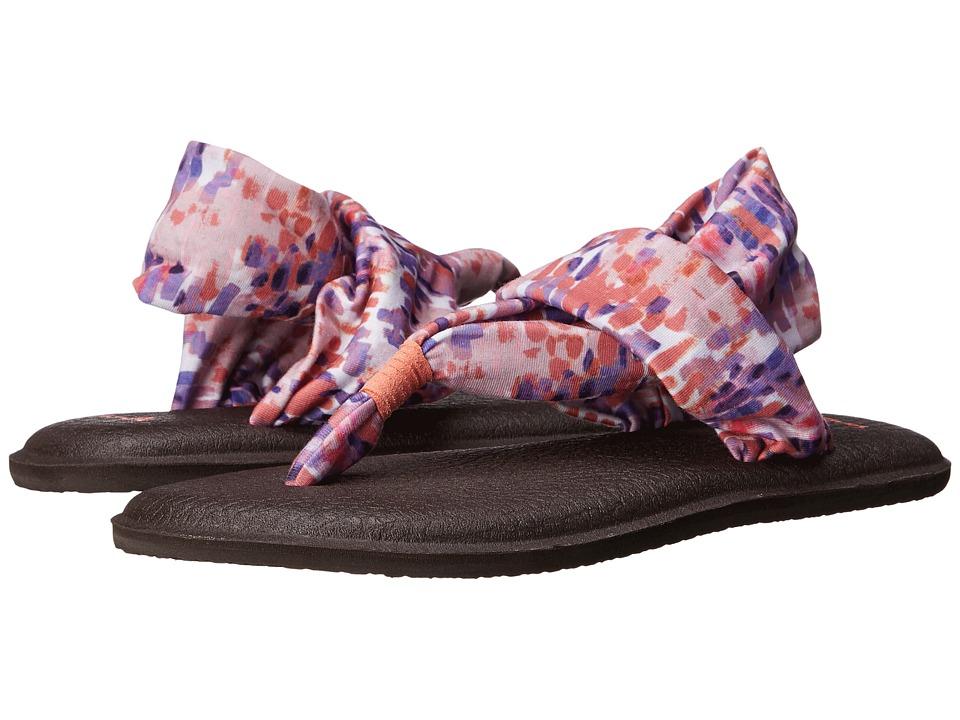 Sanuk Yoga Sling 2 Prints Spiced Coral Rain Womens Sandals