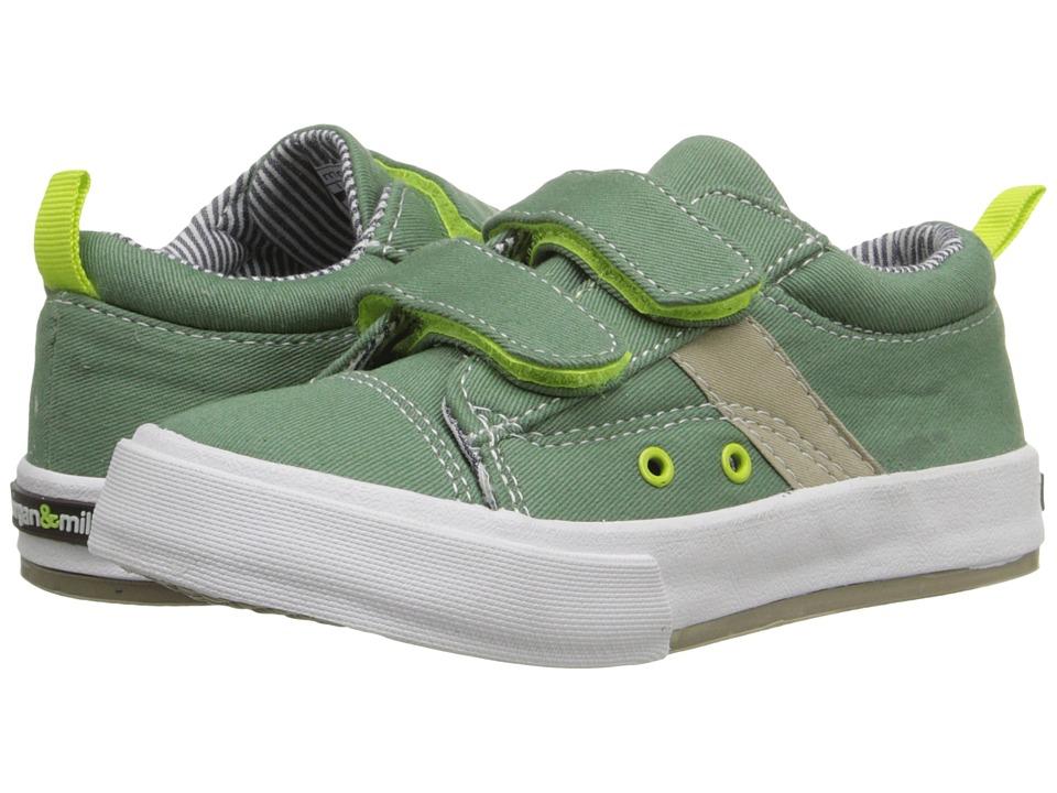 MorganampMilo Kids Hudson Double V Canvas Toddler/Little Kid Cargo Green Boys Shoes