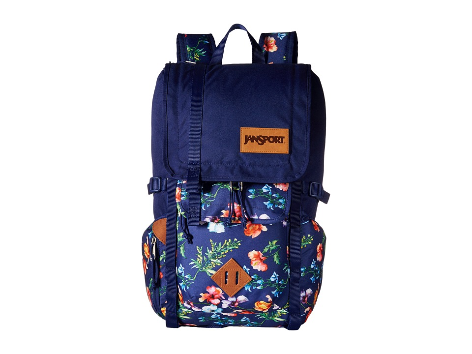 JanSport Hatchet Backpack Multi Navy Mountain Meadow Backpack Bags