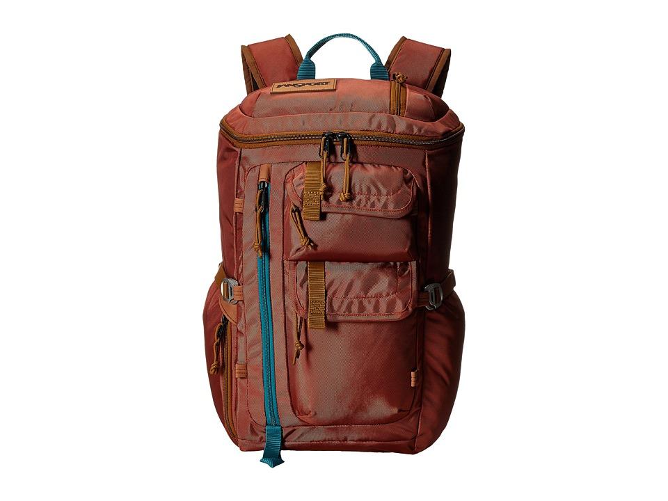JanSport Watchtower Burnt Henna Ballistic Nylon Backpack Bags