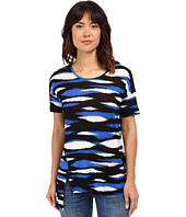 kensie - Animal Stripe Top KS4K3015