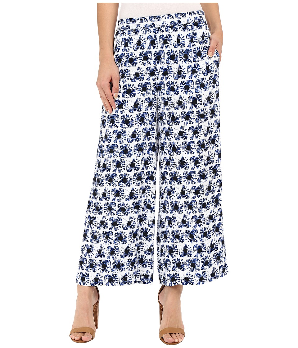 kensie Mini Tie Dye Bursts Pants KS4K1273 White Combo Womens Casual Pants