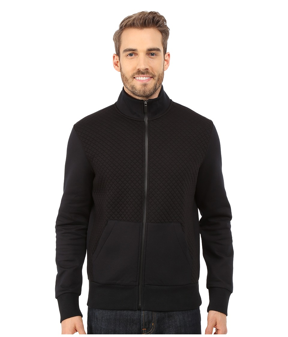 Michael Kors - Quilted 1/2 Zip Hoodie (Black) Men