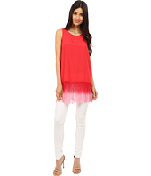 kensie - Think Soft Crepe Top with Fringe KS5K4110