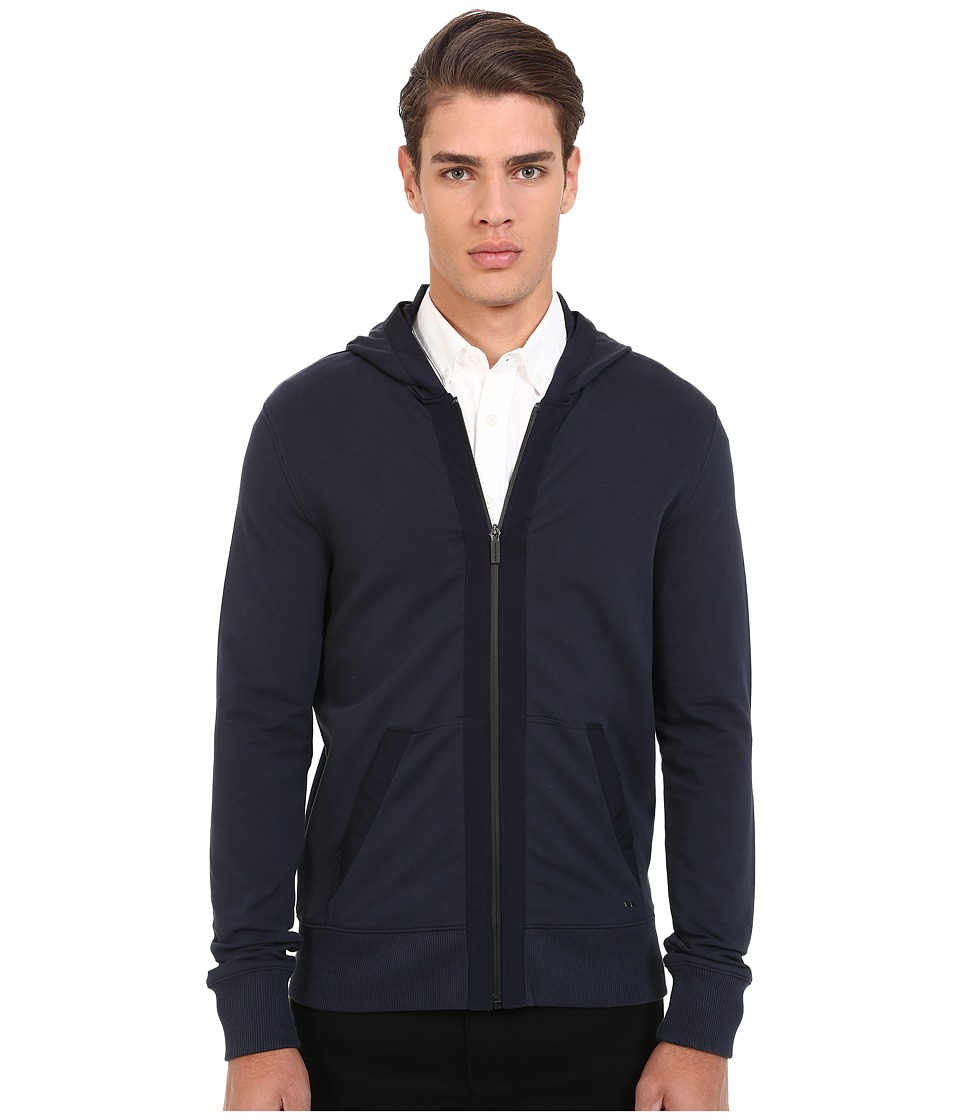 Michael Kors - Nylon Trim Hoodie (Midnight) Men