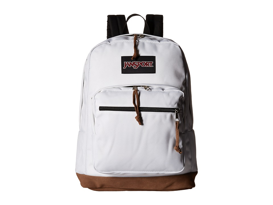 JanSport Right Pack White 1 Backpack Bags