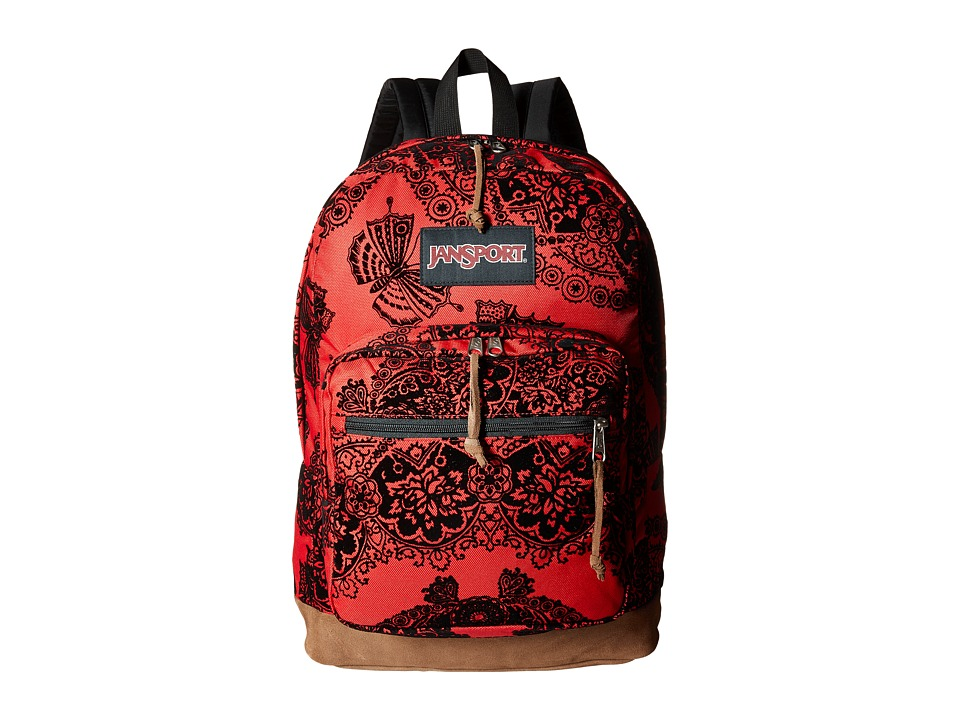 JanSport Right Pack Expressions Red Tape Ornate Rock Backpack Bags