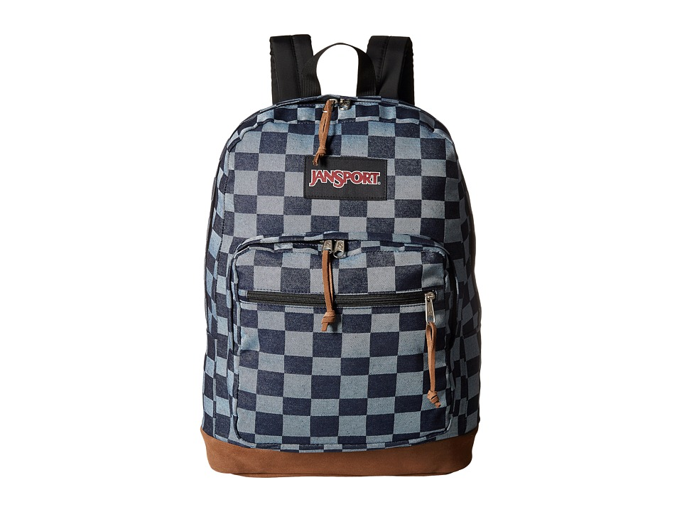 JanSport Right Pack Expressions Blue Checker Denim Backpack Bags