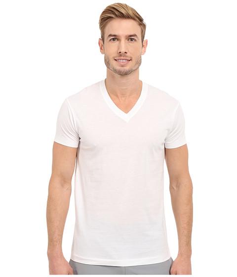 2(X)IST Pima Cotton Short Sleeve V-Neck - White