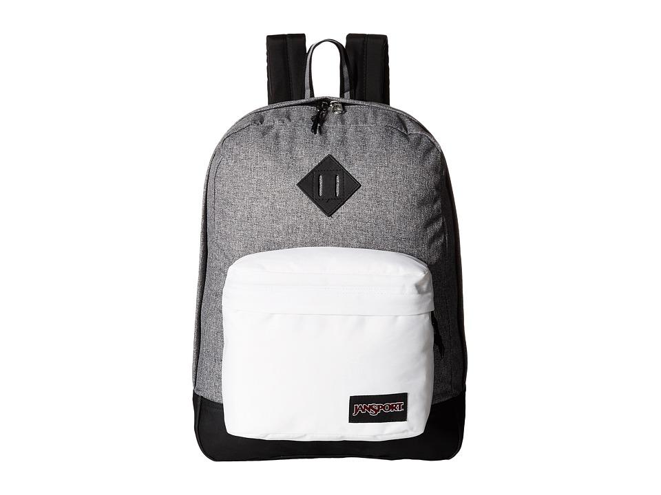 JanSport - Super FX (Black/White Letterman) Backpack Bags