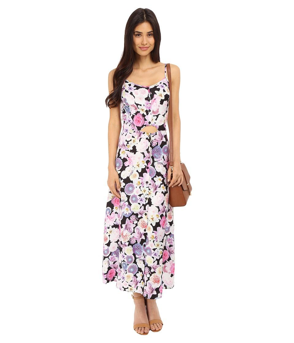 kensie Romantic Florals Dress KS5K907S Black Combo Womens Dress