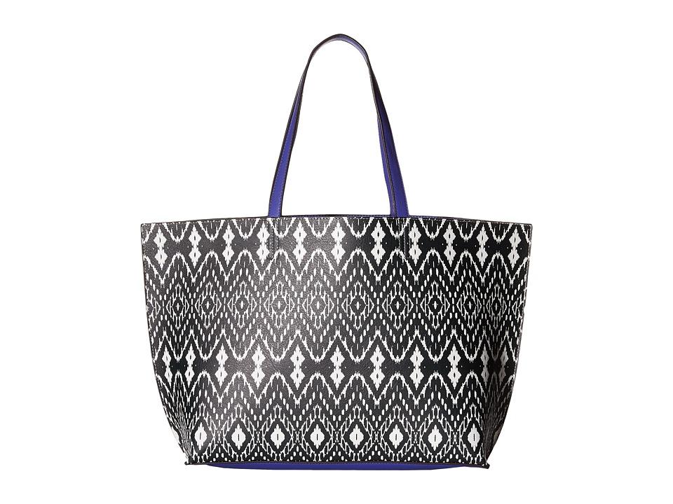 Echo Design - Ikat Essex Reversible Tote (Black/Dazzling Blue) Tote Handbags