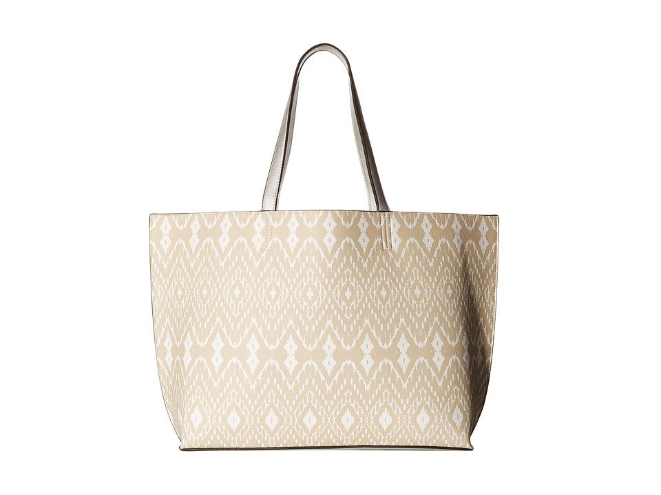 Echo Design - Ikat Essex Reversible Tote (Fine Sand/Silver) Tote Handbags
