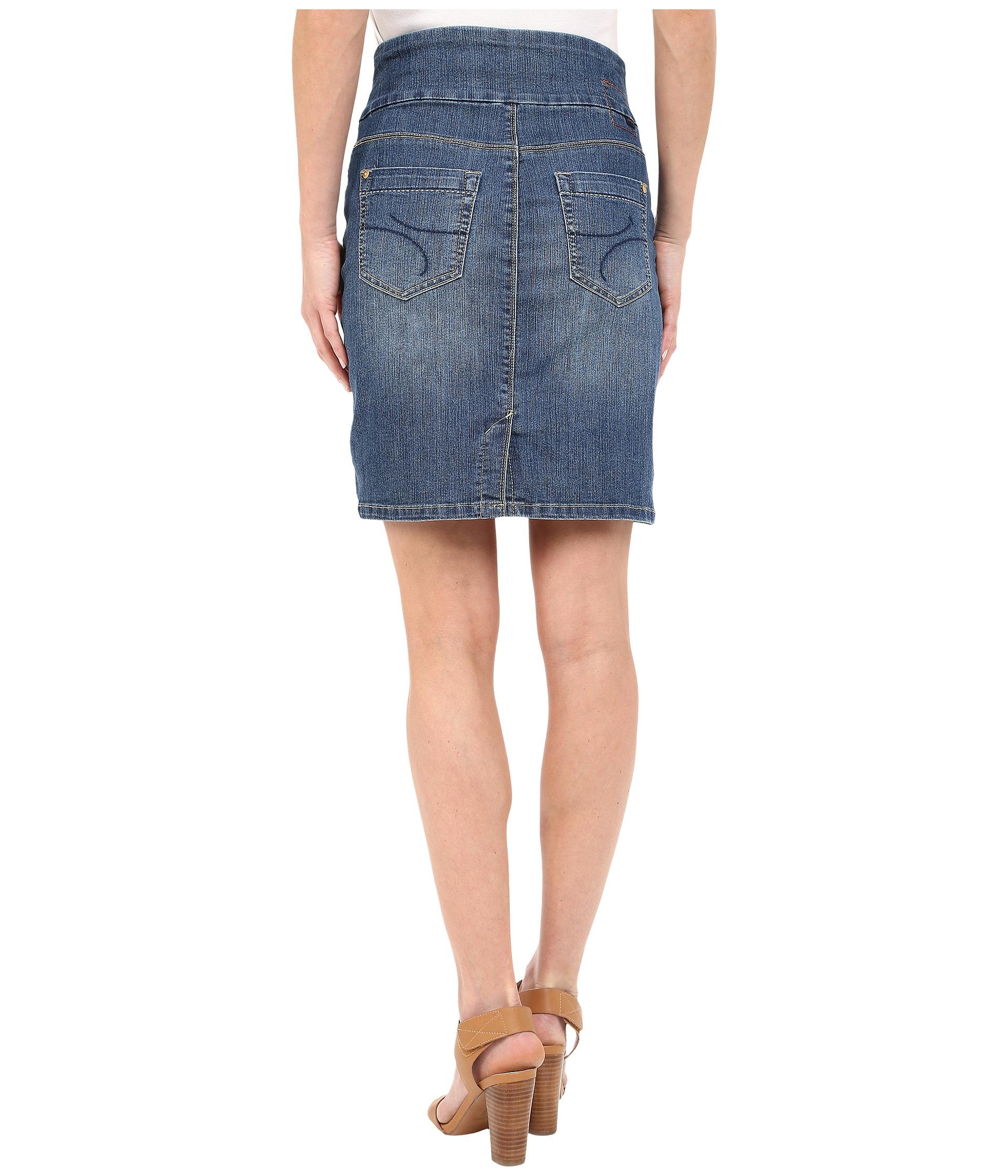 jag ingram skirt comfort denim in high tide zappos