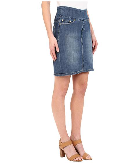 jag ingram skirt comfort denim in high tide high