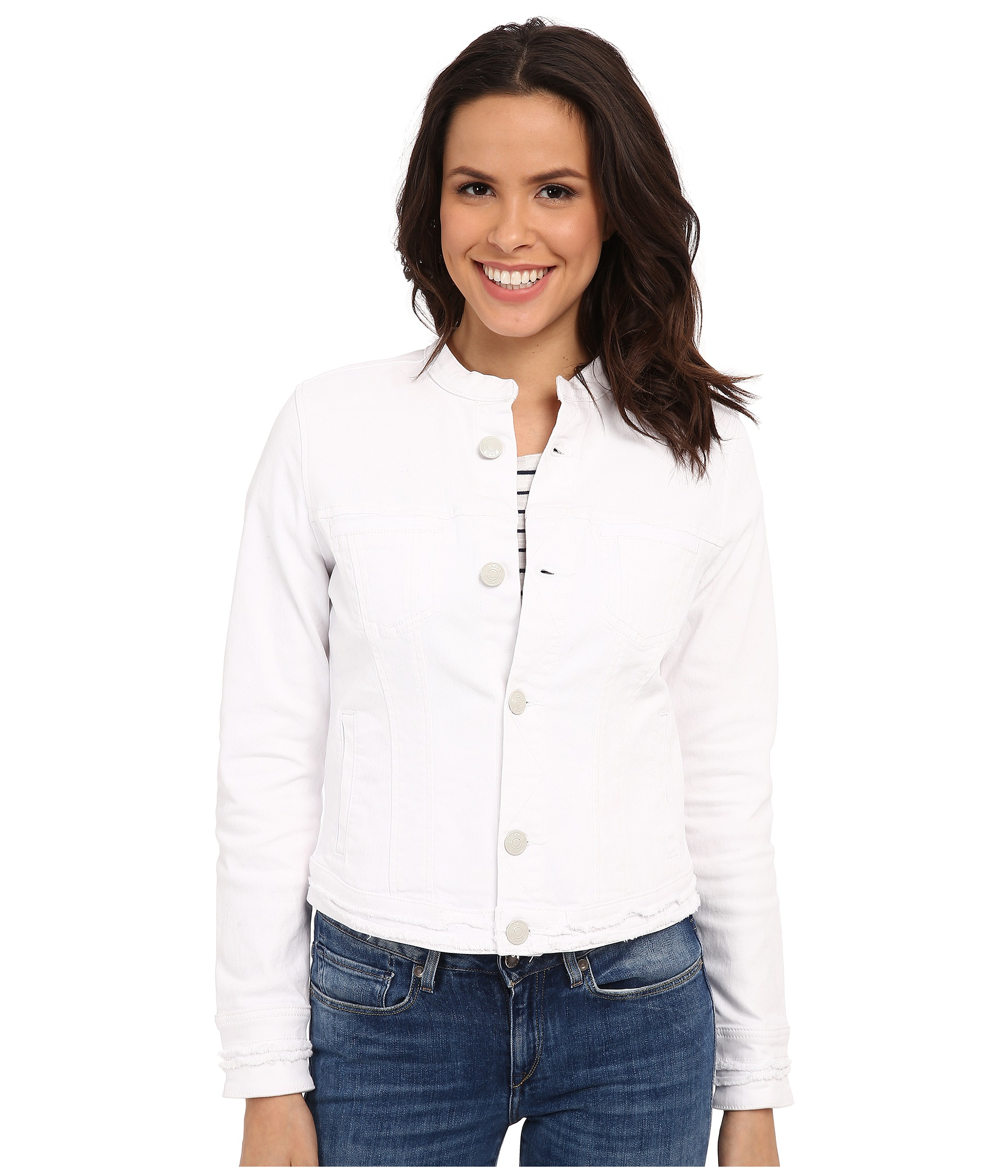 Jag Jeans Dixie Jacket in White Denim White - Zappos.com Free Shipping BOTH Ways