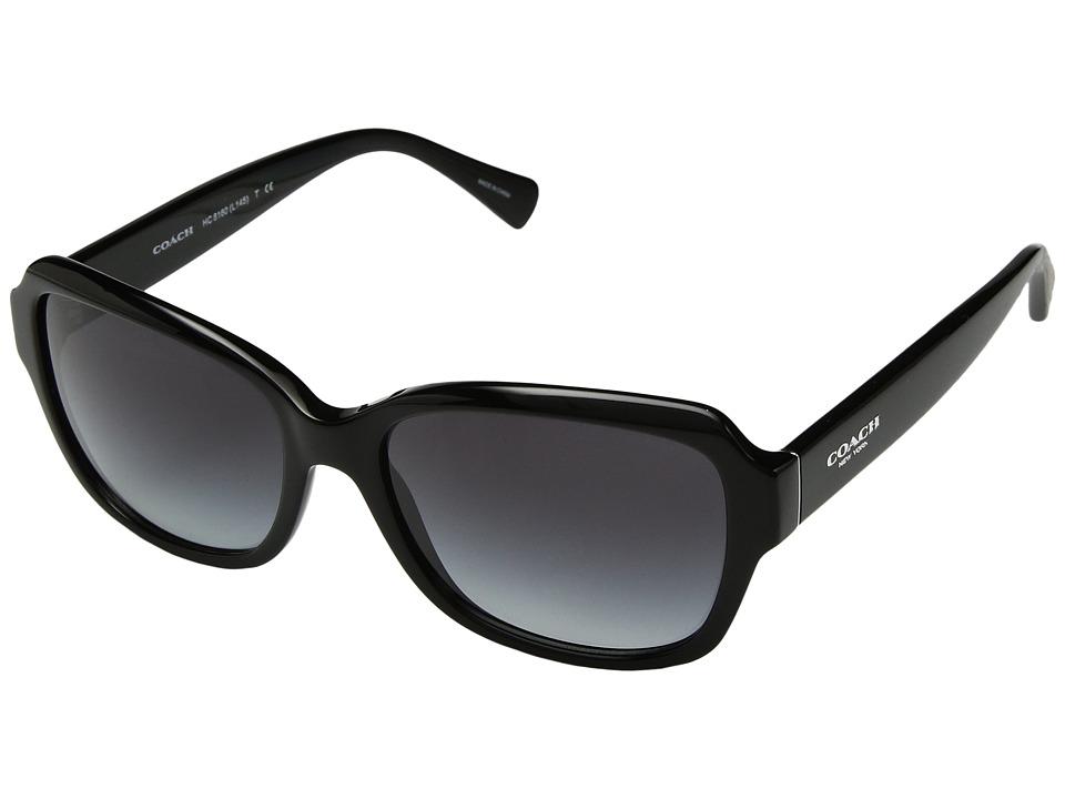 COACH - 0HC8160 (Black/Light Grey Gradient) Fashion Sunglasses