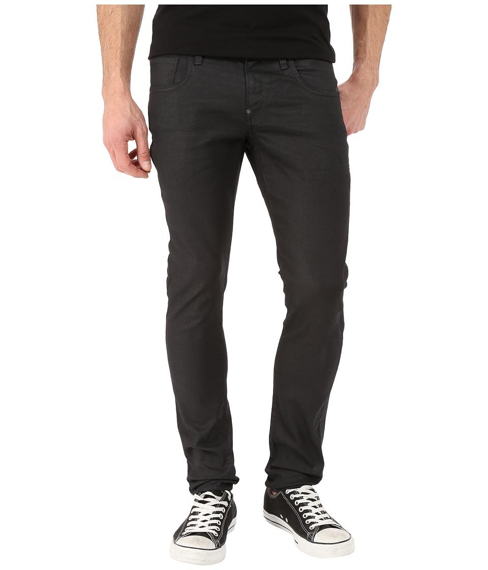G Star Revend Super Slim in Black Pintt Stretch Denim 3D Dark Aged Black Pintt Stretch Denim 3D Dark Aged Mens Jeans