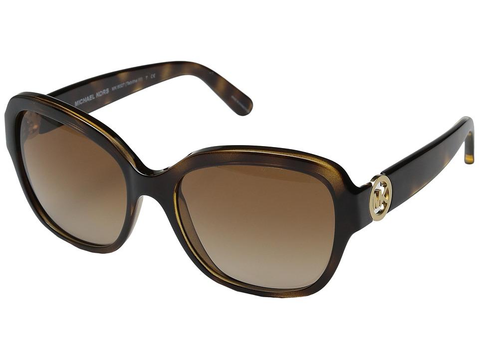 Michael Kors Tabitha III Dark Tortoise/Brown Gradient Fashion Sunglasses
