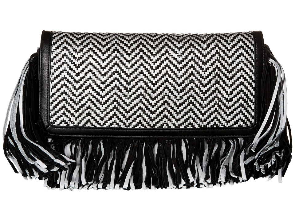 Sam Edelman - Fifi Clutch (Black/White) Clutch Handbags