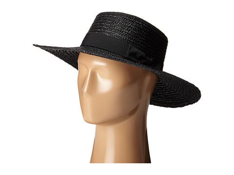 San Diego Hat Company WSH1106 Straw Brim Sun Hat - Black