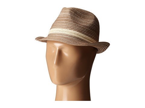 San Diego Hat Company MXF2006 Mixed Braid Fedora - Beige