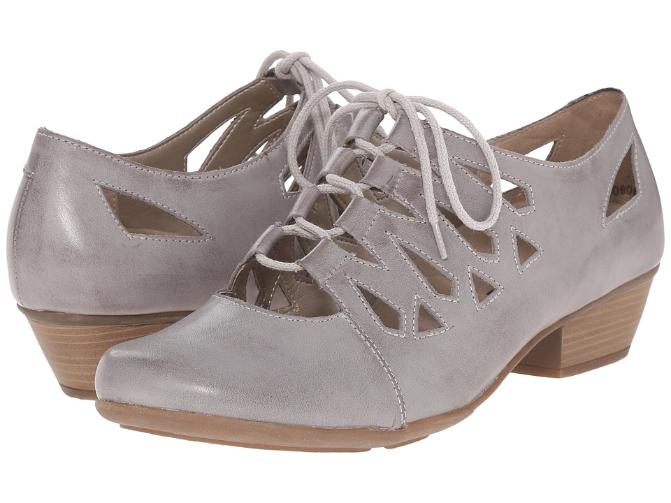 Rieker - D7312 Milla 12 White Iron Womens 1-2 inch heel Shoes $145.00 AT vintagedancer.com