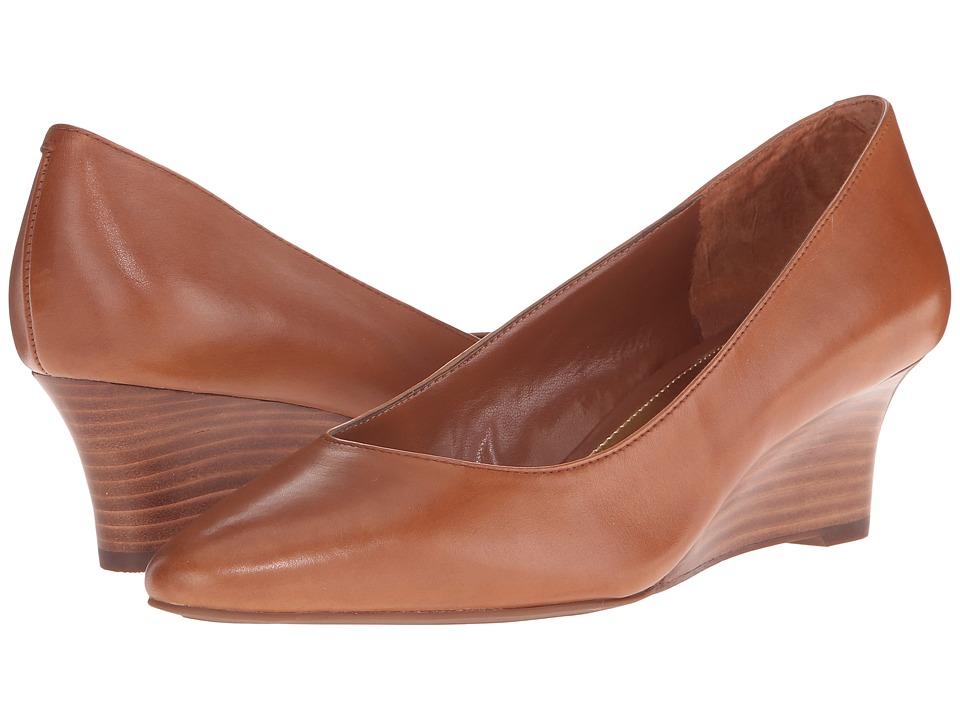 LAUREN Ralph Lauren Haidee Polo Tansoft Burnished Calf Womens Wedge Shoes