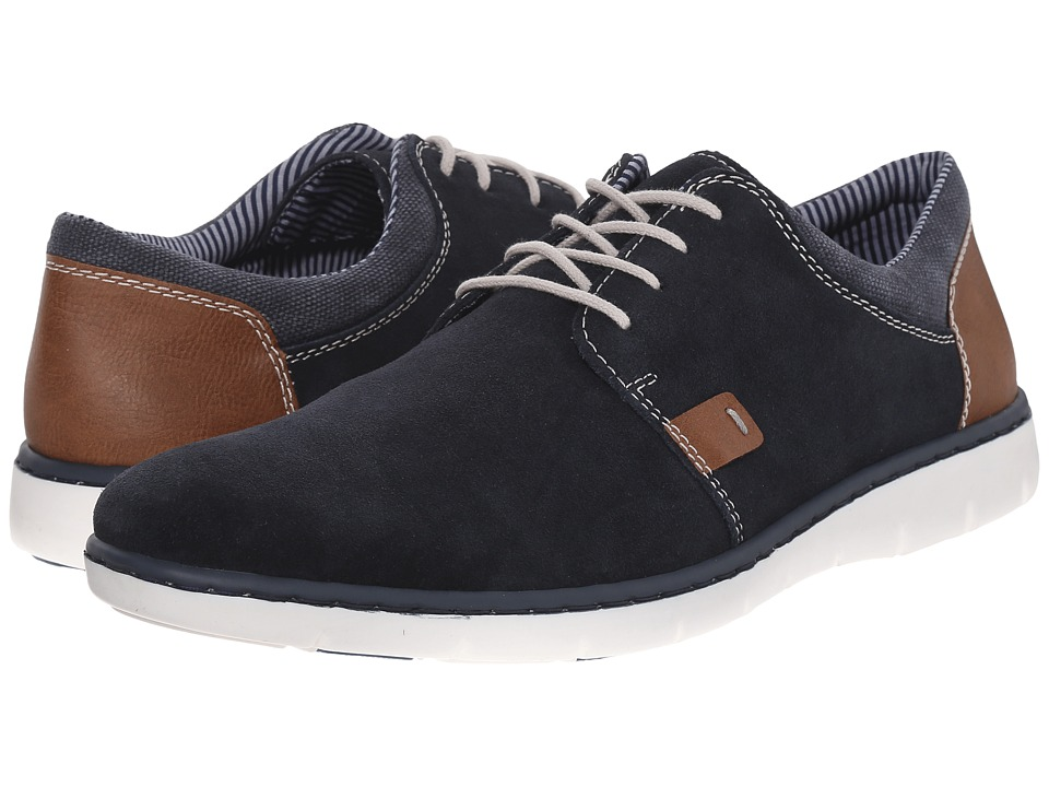 Rieker 17512 Dirk 12 Pacific/Amber/Denim Mens Lace up casual Shoes