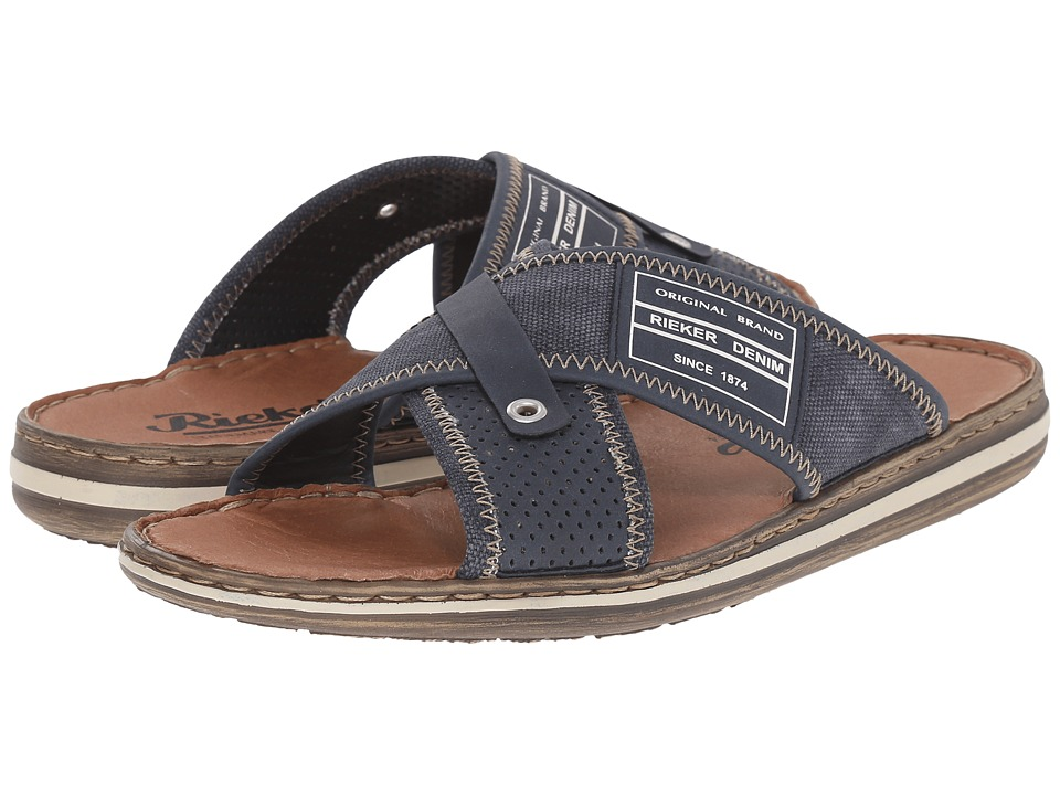 Rieker 21064 Christoph 64 Denim/Denim Mens Sandals