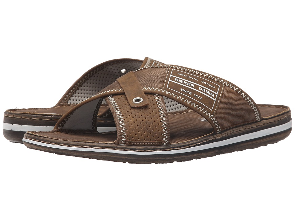 Rieker 21064 Christoph 64 Zimt/Reh Mens Sandals