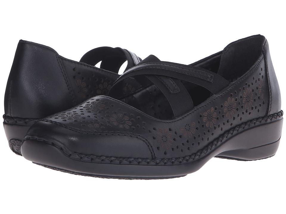 Rieker 41325 Doris 25 Nero/Black Womens Maryjane Shoes