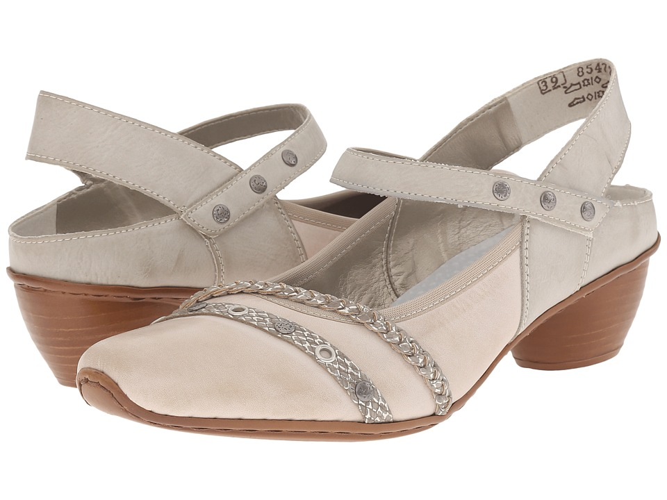 Rieker 43728 Mirjam 28 Cloud/Fango Silver/Ice Womens Sling Back Shoes