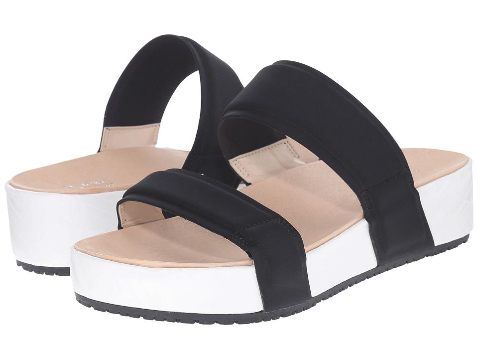 Dr. Scholls Frazzle Original Collection Black Neoprene Womens Shoes